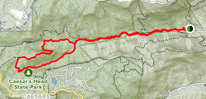 Jones Gap and Coldspring Branch to Bill Kimball Trail Map