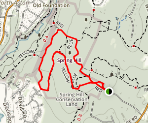 Spring Hill Yellow Loop Map