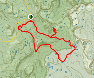 Highline, Naturalist, Four Lakes, Mirror Lake Loop Map