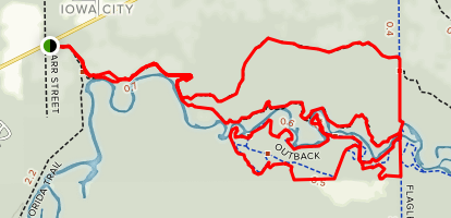 Little Big River and Outback Loop Map