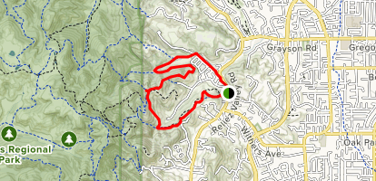 Reliez Valley Loop Map