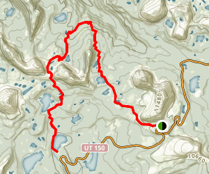 Notch Mountain Trail to Trial Lake Map