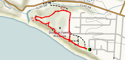 Arroyo Burro Beach Loop Map