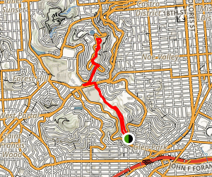 Glen Canyon to Twin Peaks Map