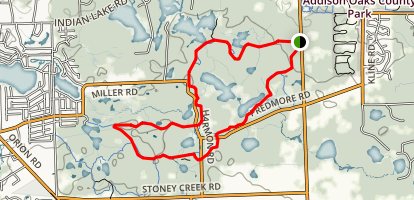 White and Orange Trail Double Loop Map