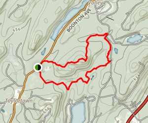 Turkey Mountain via Red and Yellow Trail Map
