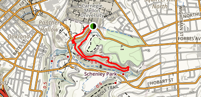 Schenley Park Panther Hollow Trail Map