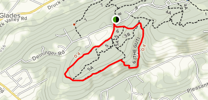 Trail 5 to Trail 6 Loop Map