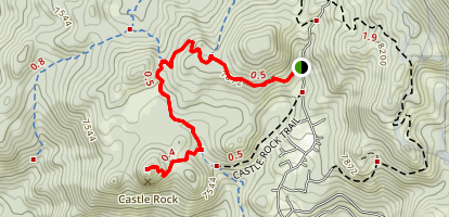 Castle Rock via the Tahoe Rim Trail Map
