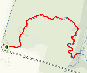 White Trail to Middlebush Brook Map
