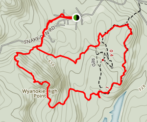 Wyanokie High Point from Weis Ecology Center Map
