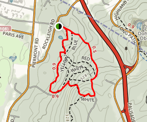Yellow and White Trail Loop Map