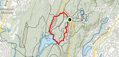 Yellow Trail, East Shore Drive, and Foxcroft Road Loop Map