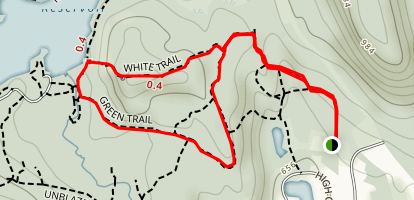 Butler Reservoir via Blue and White Trail Loop Map
