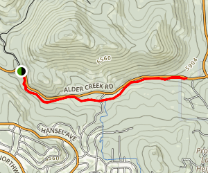 Emigrant Trail to Alder Creek Out-and-Back Map