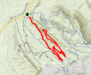 Rock Garden, Fossil Canyon and Second Finger Loop Map