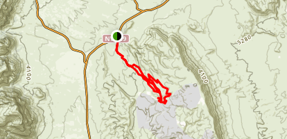 Cat in the Hat, First Finger, Outer Loop, Fossil Canyon Loop Map