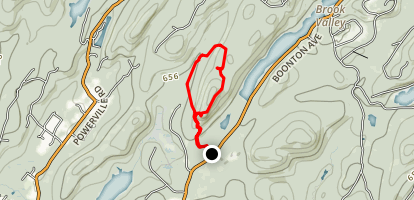Lucy Overlook via Blue and White Trail Loop Map