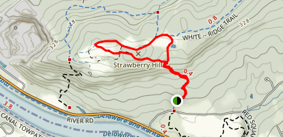 Strawberry Hill via Summit Trail Map