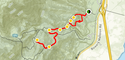 Rock Lake via Ophir Trail Map