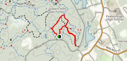 Prospect, Pine Hill, and Tupelo Trail Map