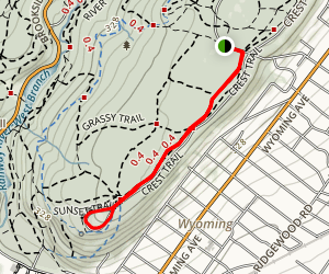 Crest Trail to Crest Loop Map