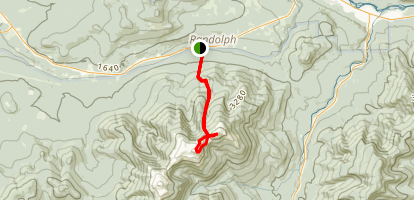 Mount Madison and Adams via the Valley Way Trail Map
