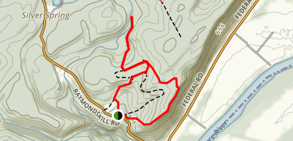 Hackers Falls and Raymondskill Falls Loop Trail Map