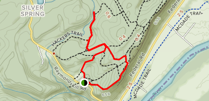 Hackers Falls and Raymondskill Falls Loop Trail [CLOSED] Map