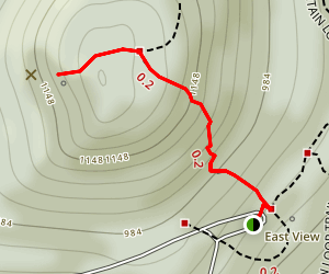 The Sunrise Trail to Sugarloaf Mountain Map