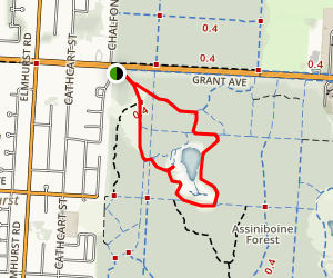 Eva Weirier Waterfowl Pond via Sagimay Trail Loop Map