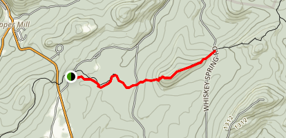 Appalachian Trail: Center Point Knob & Boiling Springs Map