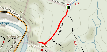 Ilchester Rocks Map