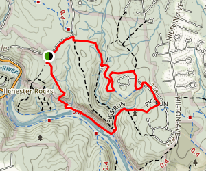 Drugs, Pigs Run, Charcoal, and Sawmill Branch Loop Map