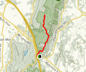 Black Rock via the Appalachian Trail Map