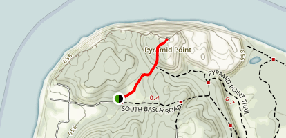 Pyramid Point Trail Map