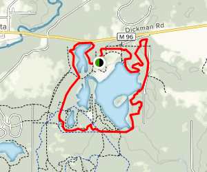 Fort Custer Green Trail Map
