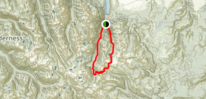 Polaris Pass Loop via East Fork Trail Map