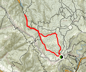 Cataract Falls to Simmons Trail Loop Map