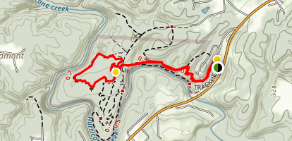 Approach Trail and North Loop Map