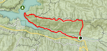 Burn Out Hill and Silverwood Loop Map