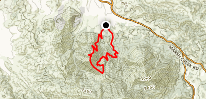 Eagle Peak Meridian Ridge Loop Map