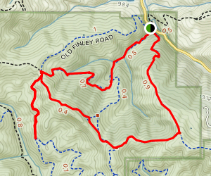 Morgan Creek, Jeramiah, Highland, Morgan Ridge Loop Map
