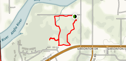 River Bend Trail Short Loop Map