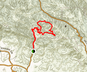Morgan Territory, Highland, Jeremiah, Sulphur Loop Map