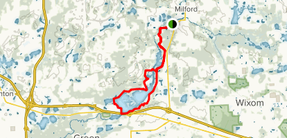 Milford Trail to Kent Lake Loop Map