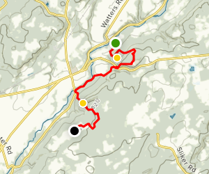 Point Mountain Reservation - North to South Map