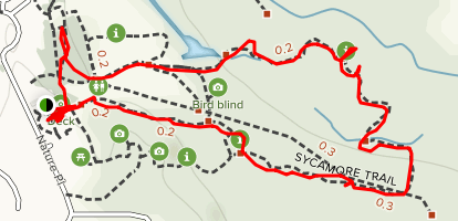 Hoot Owl and Sycamore Loop Trail Map