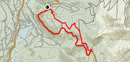 Boreas Pass Road and Baker's Tank Trail Loop Map