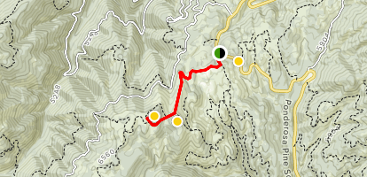 Stargaze Point Trail via Beaver Creek Summit Map